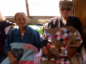 5 Norris & Lena Nez w their quilts