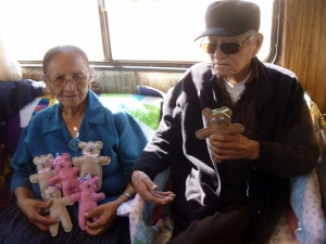 6 Norris & Lena Nez w dolls for their grandchildren