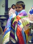 Close up kid w blanket
