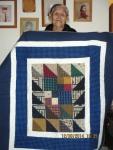 Gloria Babbitt w quilt 2