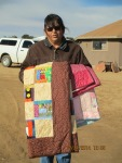 Vicky Begay w Quilts