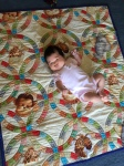 Baby on a quilt