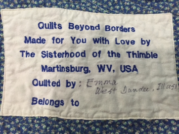 Oz - Quilt Label