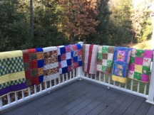 Pic # 6: Nine more pieced by Lee O'Connor, CT - quilted by Randee Majka, MA; Peggy Thomsen, CT.