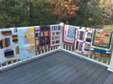 Pic. #8: Seven pieced by Hong Chang, Australia; all quilted by Matheson, CT.