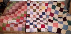 tops by ann mckeel, maria rodriguez, and jamie rufo. all were quilted by barbara knable