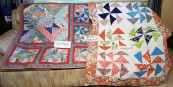 Left Gail Hardy. Right-Linda D. Both quilted by Barbara Knable