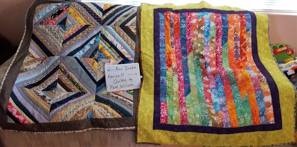 L. by Ann Drake. R. by Karisa H. Quilted by Pam W.