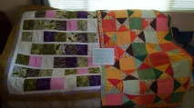 L. by Grabel. R. by Donna Sexton. Both quilted by Pam W