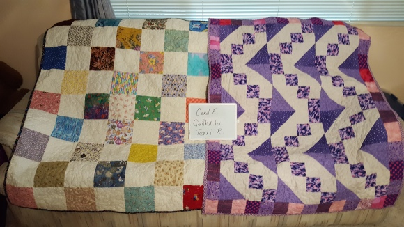 Tops by Carol E. Quilted by Terri R.